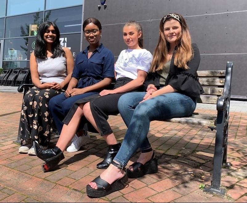 Ayesha, Jacina, Yasmin and Lauren